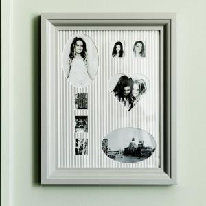 Ramka na 8 zdjęć w stylu romantycznym. Projekt: Monika Mulder. Sprzedaż: Ikea, cena: ok. 30 zł.