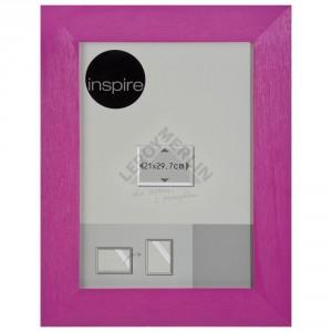 Różowa ramka Riviera marki Inspire, idealna go kobiecego gabinetu. Sprzedaż: Leroy Merlin, cena: 19 zł.