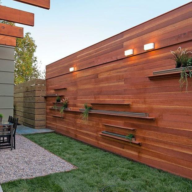 20 pomysłów na drewniane ogrodzenie w stylu nowoczesnym