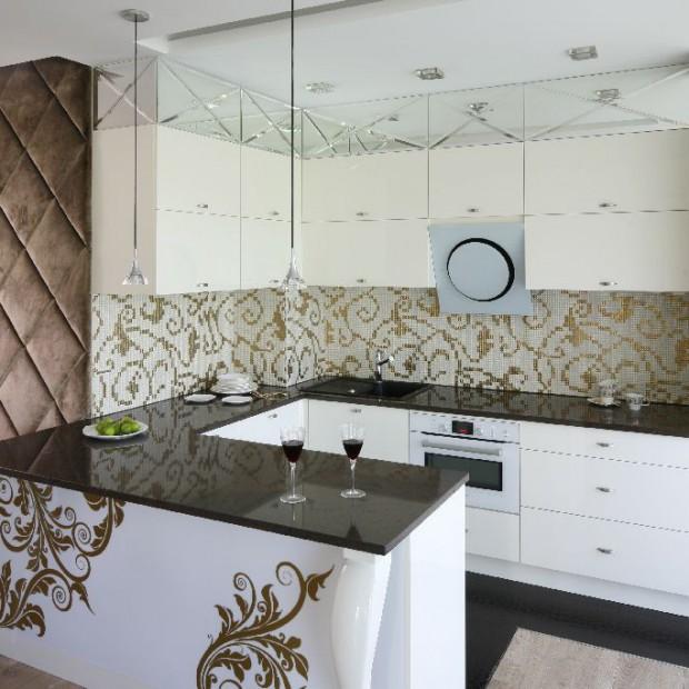 W stylu glamour. Eleganckie mieszkanie w bieli i złocie