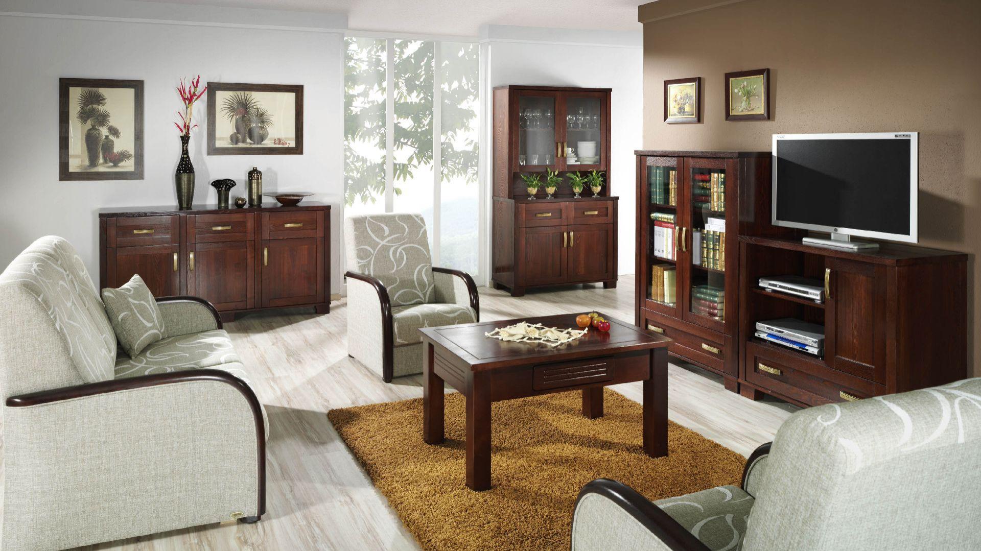 Kolekcja Magic Collection, meble wykonane z drewna litego, co czyni z nich solidną bryłę ze starannie dobranymi uchwytami mosiężnymi. Fot. Unimebel,