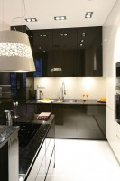 Kuchnia - apartament na Mokotowie.