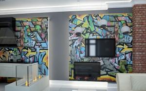 Apartament we Wrocławiu - salon.