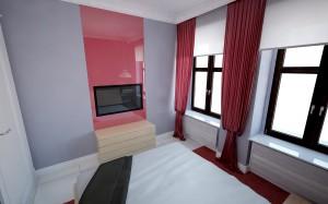 Apartament w centrum Wrocławia - sypialnia.