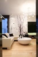 Salon - apartament na Mokotowie.