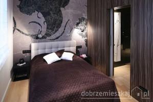 Sypialnia - apartament na Mokotowie.