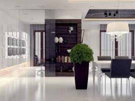 Salon - apartament w Wilanowie.