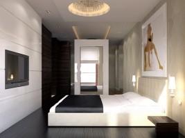 Sypialnia - apartament w Wilanowie.