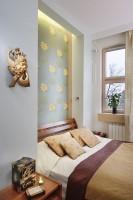 Apartament na Bielanach - sypialnia.