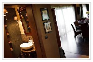 Łazienka w stylu eklektycznym.