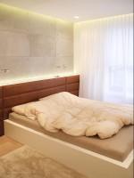 Apartament w Warszawie - sypialnia.