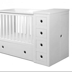Paso Doble to łóżeczko dziecięce łączące w sobie funkcje komody i przewijaka. Producent: Bellamy. Cena: 1.299, sprzedaż: Baby Deco.
