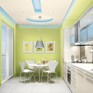 """Biostatyczna farba lateksowa Śnieżka Kuchnia-łazienka przeznaczona do pomieszczeń szczególnie narażonych na działanie wilgoci. Odporna na szorowanie izmywanie wodą z dodatkiem detergentów. Nie chlapie podczas malowania i zapewnia """"oddychanie"""" ścian. Dostępna w dwóch rodzajach wykończenia: matowym z paletą 13 kolorów i satynowym – 9 kolorów. Wydajność: do 12 m²/l. 24,46 zł/l (biała), 28,70 zł/l (kolorowa)."""