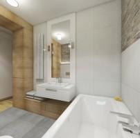 Dom w Baszkówce - łazienka w jasnej kolorystyce.