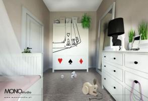 Wyjątkowa przestrzeń dla dziewczynki z wyobraźnią.