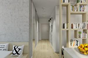 Hall - apartament w Warszawie.