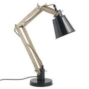 Lampa stołowa Retro została wykonana z drewna i metalu. Konstrukcja lampy pozwala na jej dowolne ustawianie. Producent: Nordal. Cena: 599 zł, sprzedaż: Opa&Company.