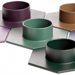 Świecznik tealight Hexagon dostępny w wielu kolorach. Cena 29 zł. Fot.BoConcpept.
