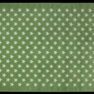 Dywan Alfombra Estrellitas w kolorze zielonym.