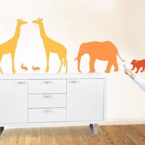 Dekoracyjne naklejki - afrykańskie zwierzęta. Fot. DecoBazaar.