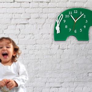 Zegar ścienny w kształcie słonia. Fot. I Hate Design.