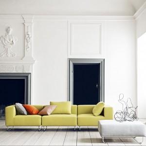 Żółta modułowa sofa Ohio. Fot. Softline.