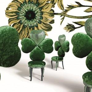 Fotele LuckyCharm z kolekcji Next Art Chapter. Fot. Sicis.