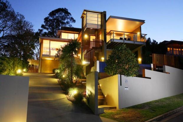 25 sposobów oświetlenia schodów zewnętrznych