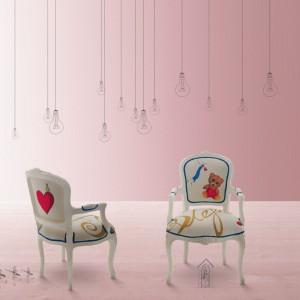 Ręcznie dekorowane fotele. Fot. Creazioni.