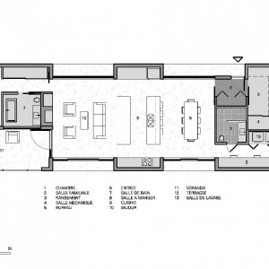 Plan domu. Fot. La Shed Architecture.