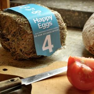Maja Szczypek, opakowania na jaja od kur szczęśliwych.