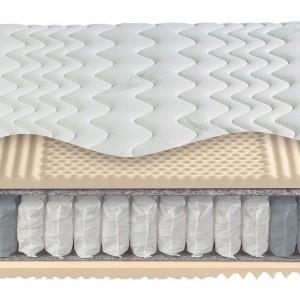 Materac Arcadia Fit obustronnie pokryty matami sizalowymi. Wkład wykonany ze sprężyn kieszeniowych.  Wiele rodzajów pokrowców do wyboru, stopień twardości H2 / H3. Fot.Agata Meble.