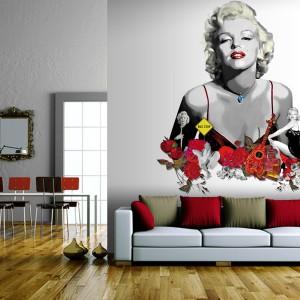 Marilyn Monroe to jedna z najczęściej przedstawianych  w aranżacjach wnętrz kobiet. Fot. Maisonnette.