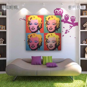 Grafika inspirowana obrazem Andy'ego Warhola. Fot. Mydecorative.