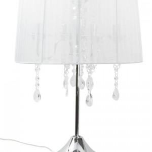 Biała lampa Organza z delikatnym abażurem.Fot. Sompex / Zalando.