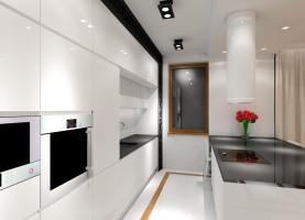 Jasny apartament - kuchnia.