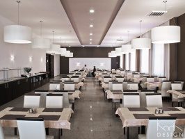 Projekt remontu i aranżacji wnętrz dwóch hotelowych sal restauracyjnych. Współpraca - arch. Monika Wróblewska