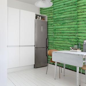 Biel wydobywa całą urodę zielonej ściany. Fot. Mr Perswall.