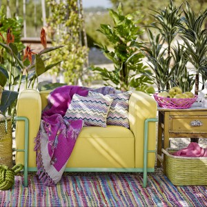 Wiosenny zestaw: zielenie, żółcienie, róże i fiolety. Kolekcja Wiosna 2014. Fot. Zara Home.