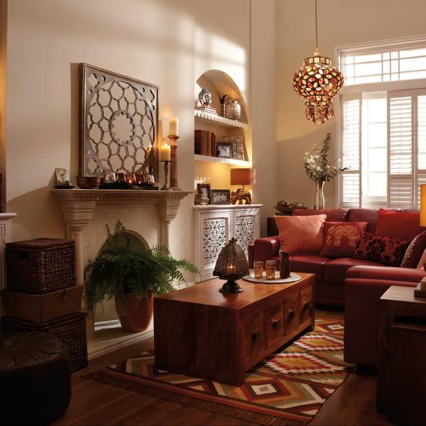 Salon w indyjskim stylu. Orientalne inspiracje