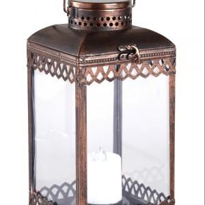 Zdobiony lampion w kolorze miedzi. Fot. Very.