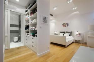 Sypialnia w bieli.