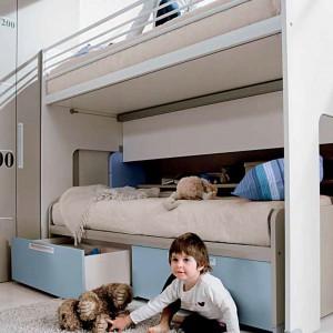Piętrowe łóżko dla rodzeństwa. Fot. Dielle.