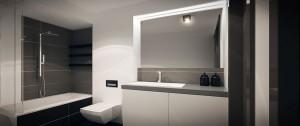 Przytulne mieszkanie dla bizneswoman zachowane zostało w kolorystyce opierającej się na odcieniach szarości, jednak z mocnym akcentem drewna. Mieszkanie minimalistyczne i nowoczesne w swojej formie, aczkolwiek również bardzo przytulne.