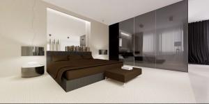 Sypialnia z łazienką.