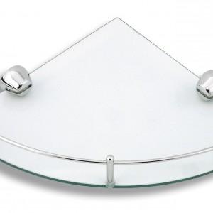 Półka szklana, narożna Ferro Novatorre 3 z chromowymi relingami. 148,83zł, Ferro