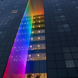 Budynek hotelowo-biurowy w Łodzi. Projekt iluminacji Grupa TOYA