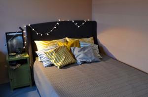 Sypialnia w stylu eklektycznym.