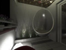 Projekt wnętrza loggi.
