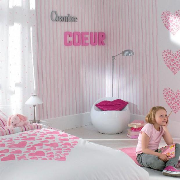 Słodkie i różowe pokoje dla dziewczynek